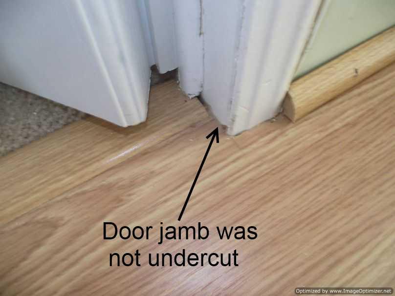 Installing Laminate Flooring Around Metal Door Frames