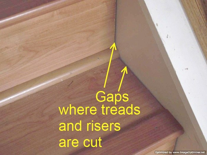 Laminate On Stairs With Bad Installation | Installing Hardwood On Stairs | Wooden | Painted Wood | Handrail | Nosing | Vinyl