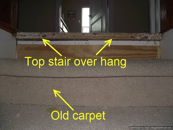Installing Laminate On Top Stair To Carpet   Carpet And Tile Stairs   Gray   Backsplash   Carpeted   Tiled Hallway Carpet   Before And After