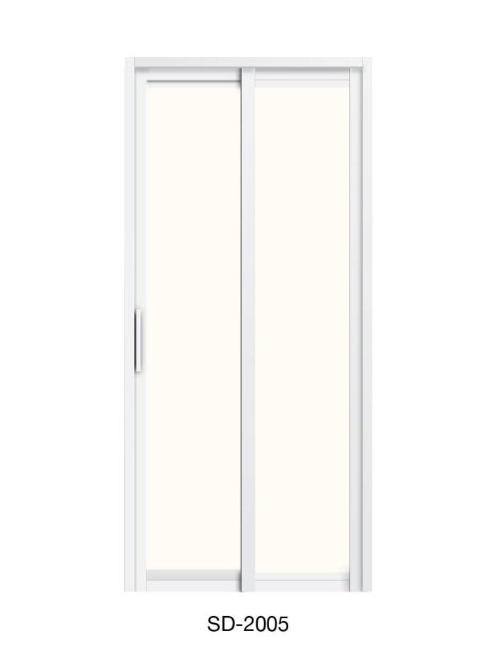 PVC Slide & Swing Toilet Door SD-2005