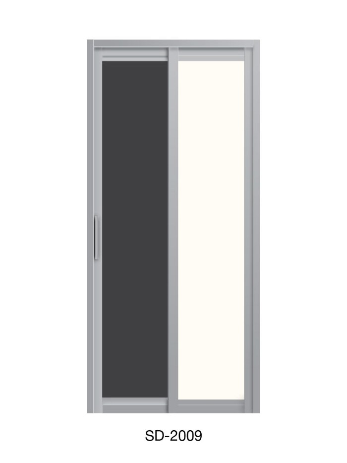 PVC Slide and Swing Toilet Door SD-2009