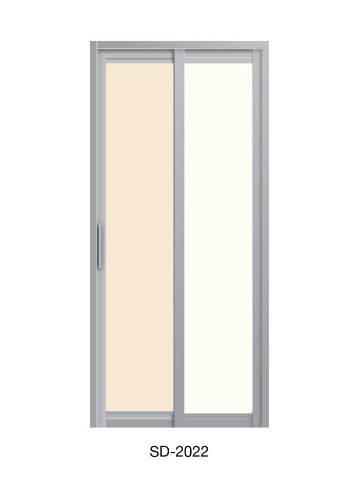 PVC Slide & Swing Toilet Door SD-2022