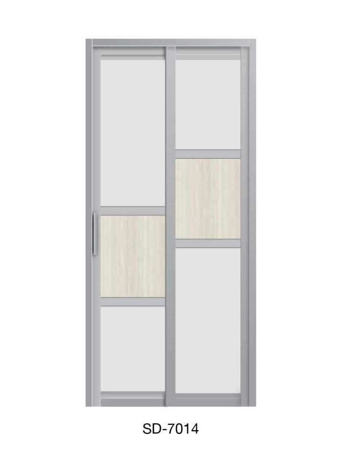 PVC Slide & Swing Toilet Door SD-7014