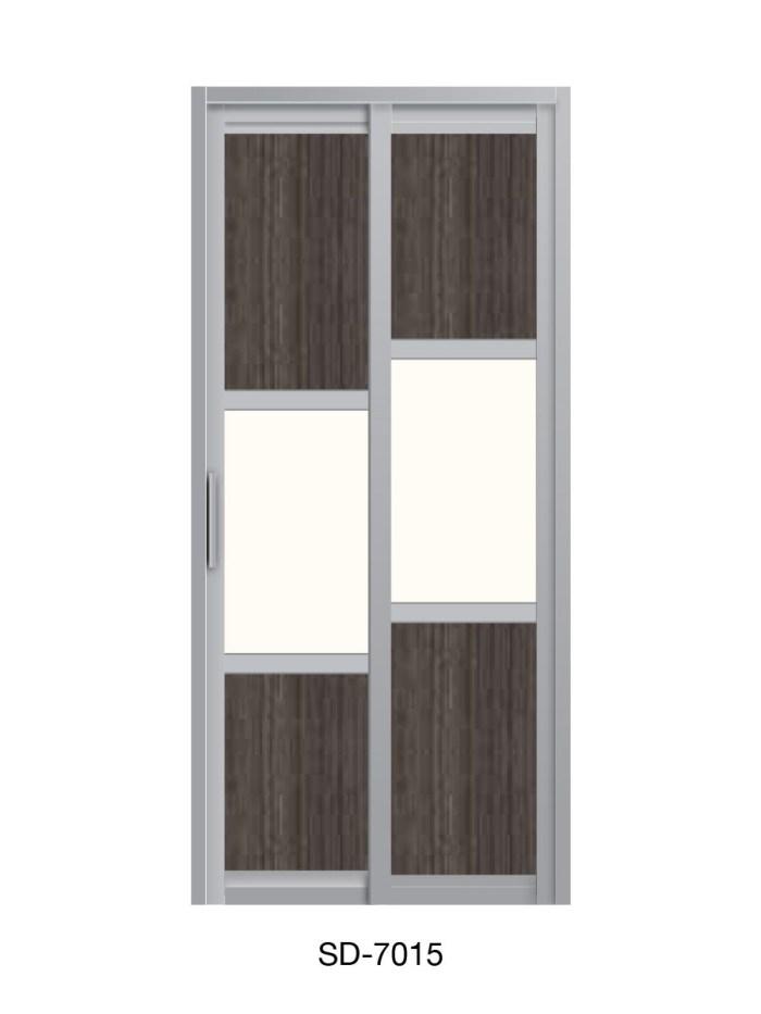 PVC Slide & Swing Toilet Door SD-7015