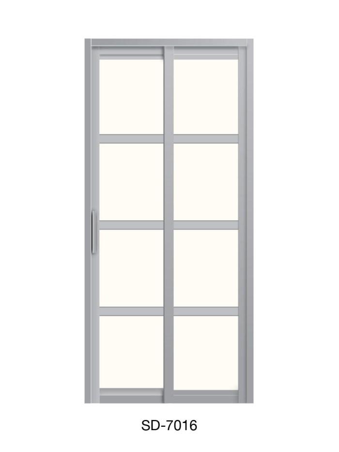 PVC Slide & Swing Toilet Door SD-7016
