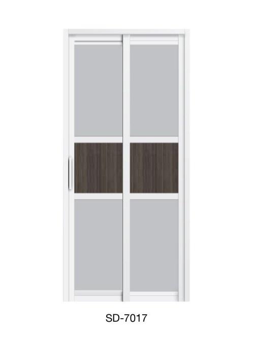 PVC Slide & Swing Toilet Door SD-7017