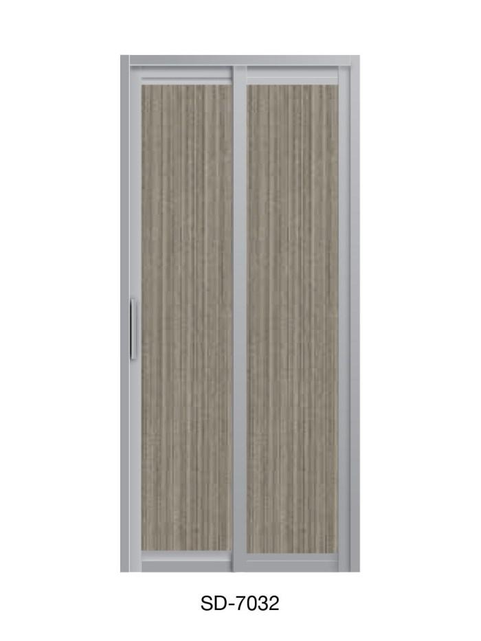 PVC Slide & Swing Toilet Door SD-7032