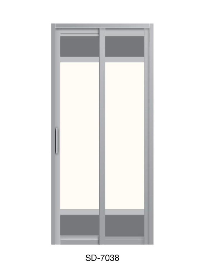 PVC Slide & Swing Toilet Door SD-7038