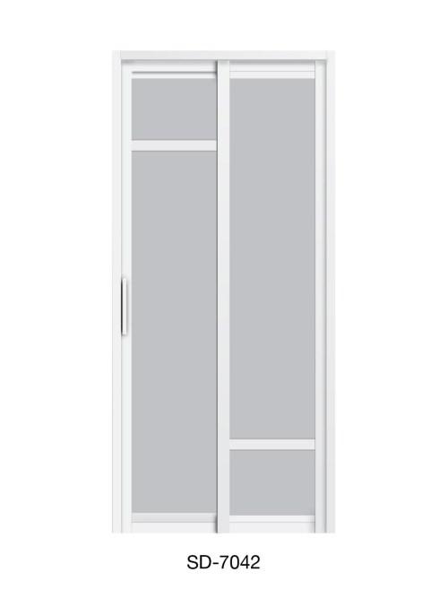 PVC Slide Swing Toilet Door SD-7042