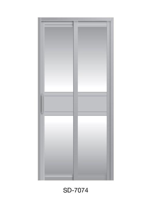 PVC Slide Swing Toilet Door SD-7074