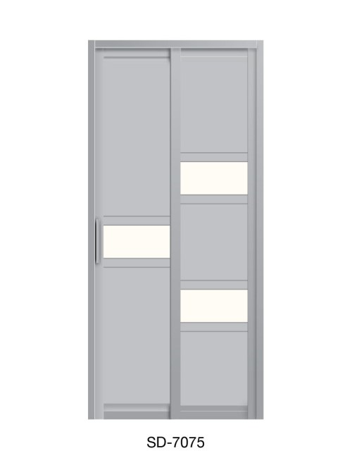PVC Slide Swing Toilet Door SD-7075