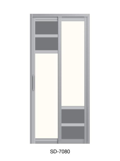 PVC Slide Swing Toilet Door SD-7080