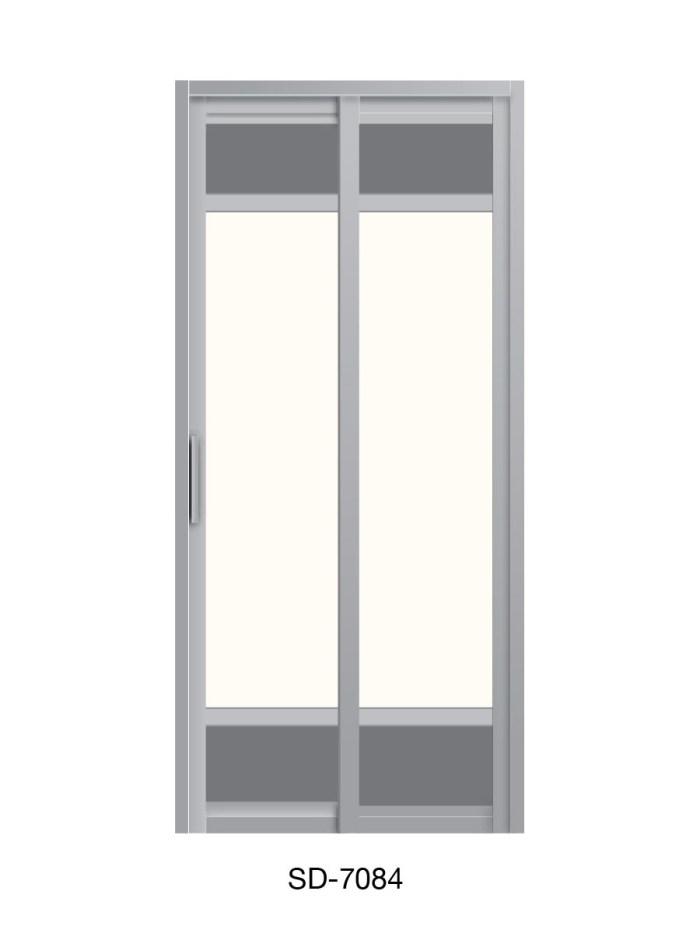 PVC Slide Swing Toilet Door SD-7084