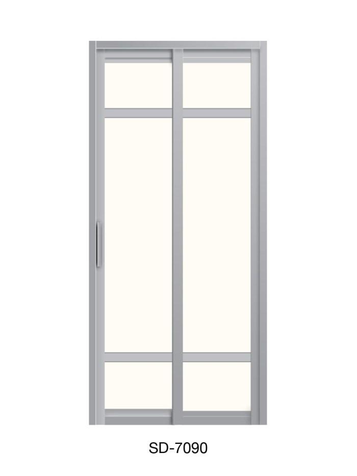 PVC Slide Swing Toilet Door SD-7090