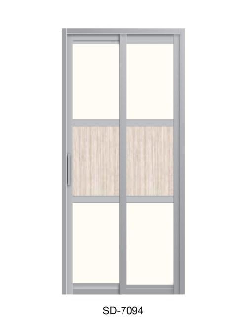 PVC Slide Swing Toilet Door SD-7094