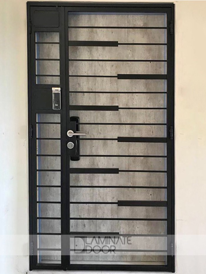 HDB-Metal-Gate-With-Wood-Panel-LD-534