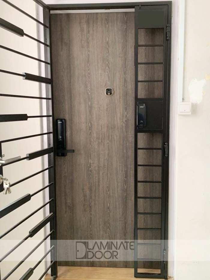 HDB-Mild-Steel-Gate-With-Wood-Panel-LD-534