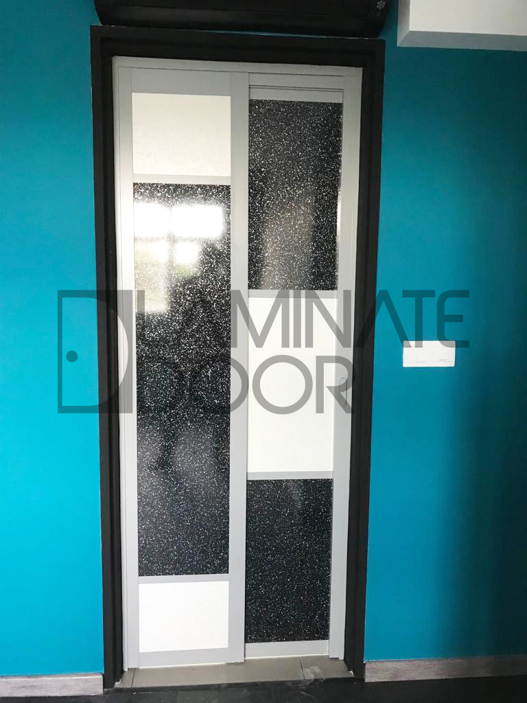 Modern Slide and Swing Toilet Door