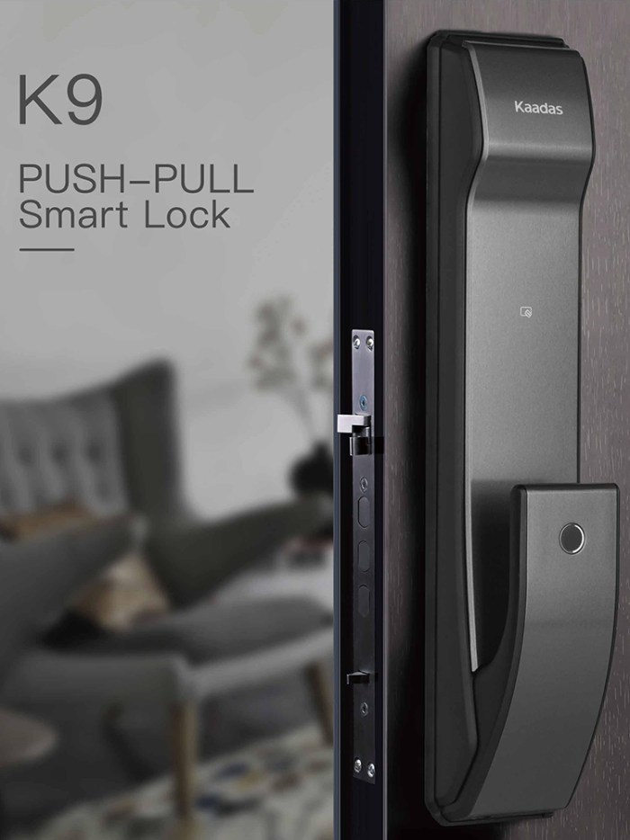 Kaadas k9 push pull digital lock main door 2019 new design