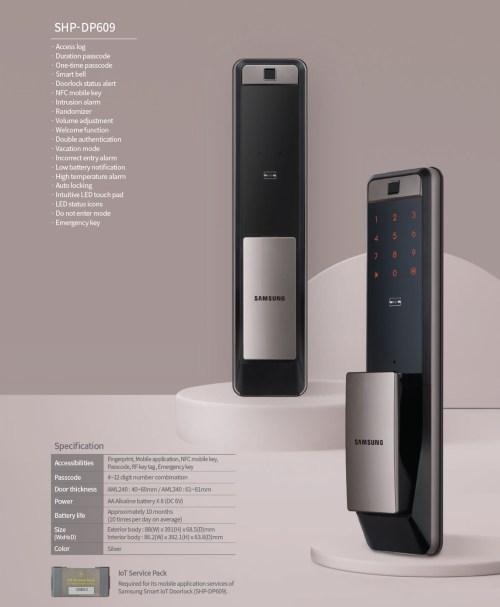 Samsung DP609 Smart Lock