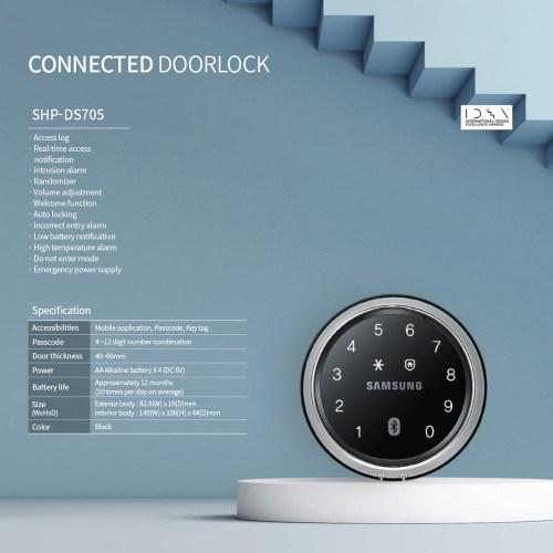 Samsung SHP DS705 digital lock