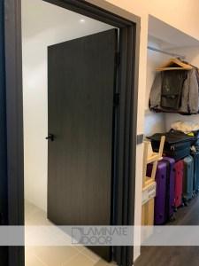 Black Colur Laminate Bedroom Doors