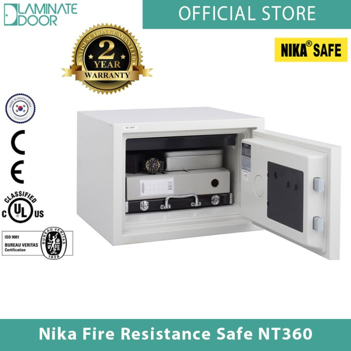 Nika Fire Resistance Safe NT360 white 2