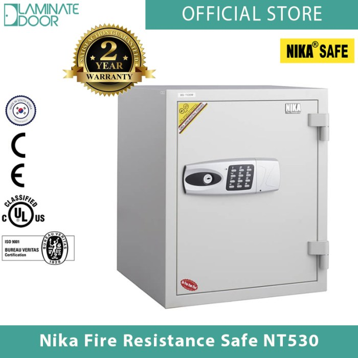 Nika Fire Resistance Safe NT530 white 1