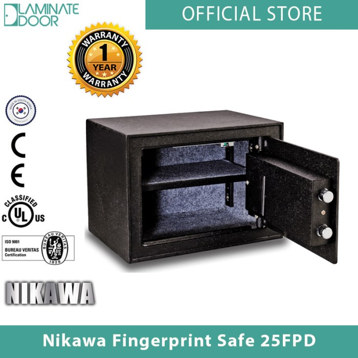 Nikawa Fingerprint Safe 25FPD 2