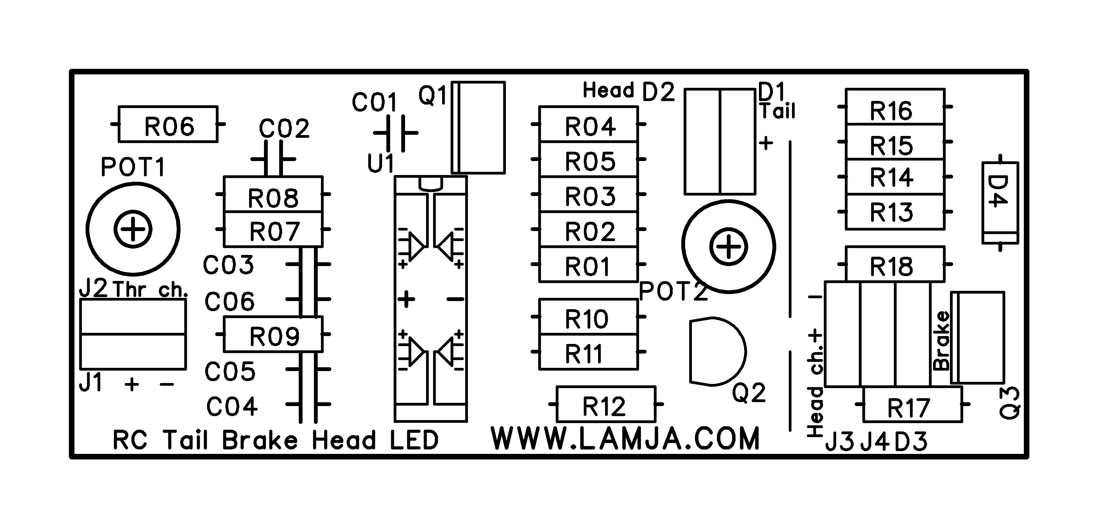 Rc Car Head Tail And Brake Lights Led Control Board
