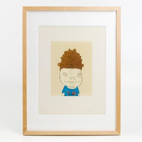 奈良美智 特別額装版ポスター [Y.N.(self-portrait)]