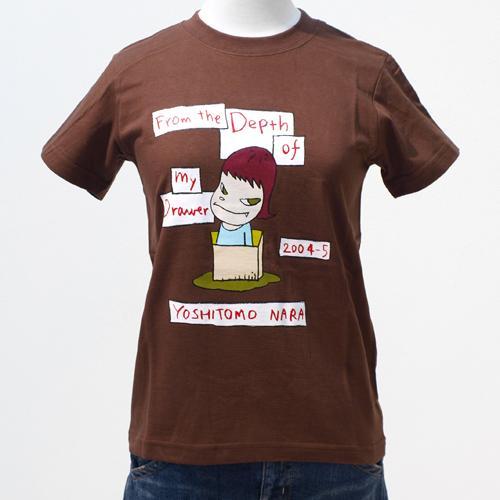奈良美智 Tシャツ [From the Depth of My Drawer(ブラウン)]