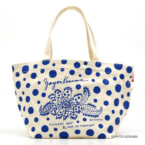 草間彌生 バッグ [真夜中に咲く花 (白xブルー/ラムフロム限定カラー)