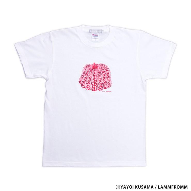 草間彌生 Tシャツ [かぼちゃ(ホワイトx赤)]