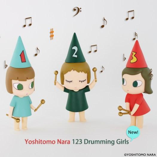 奈良美智 フィギュア [ドラミング・ガール123 (123 Drumming Girls) ]