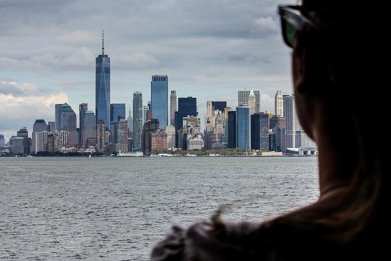 vista de nueva york desde el río hudson