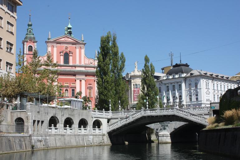 Triple puente e iglesia de la anunciación