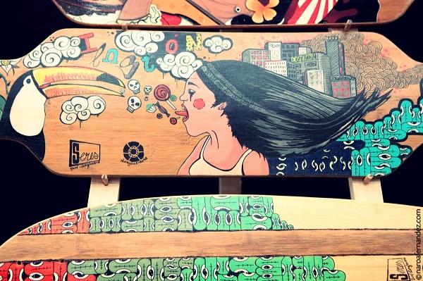 Longboard de Longboardeta expuestas en el Mulafest 2013 de Madrid