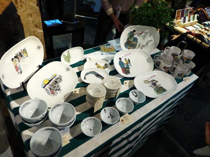 Ilustraciones de Chichinado en el Mercado Central de Diseño del Matadero