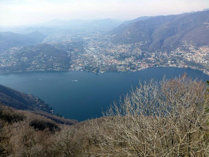 vistas del Lago di Como desde el mirador del faro