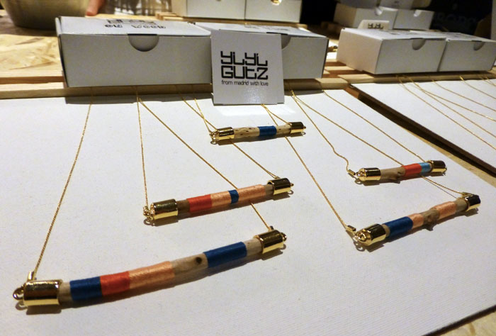 Collares de yiyi gutz en el Mercado Central de Diseño del Matadero