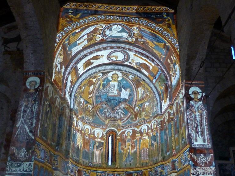 video mapping en el ábside de sant climent de taüll