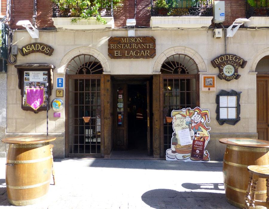 Entrada a El Lagar de Isilla, uno de los restaurantes de las Jornadas Gastronómicas del lechazo
