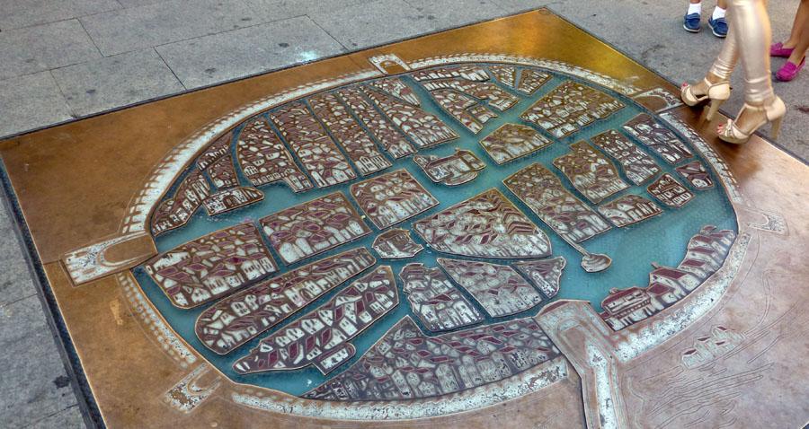Mapa de Aranda de Duero de 1503