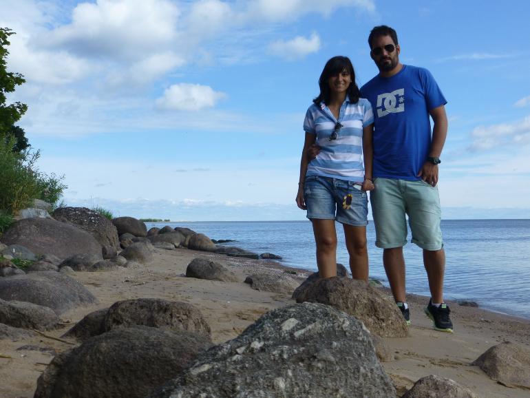 nosotros en el lago peipsi