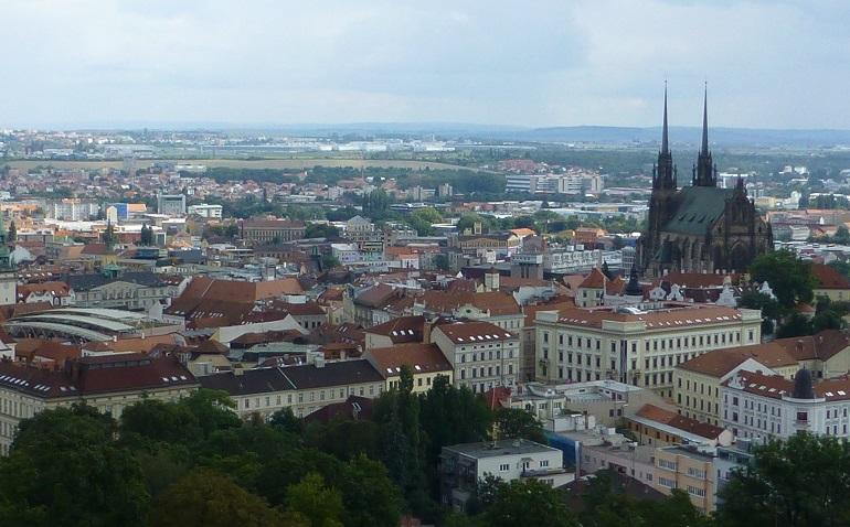 vistas de brno desde el castillo