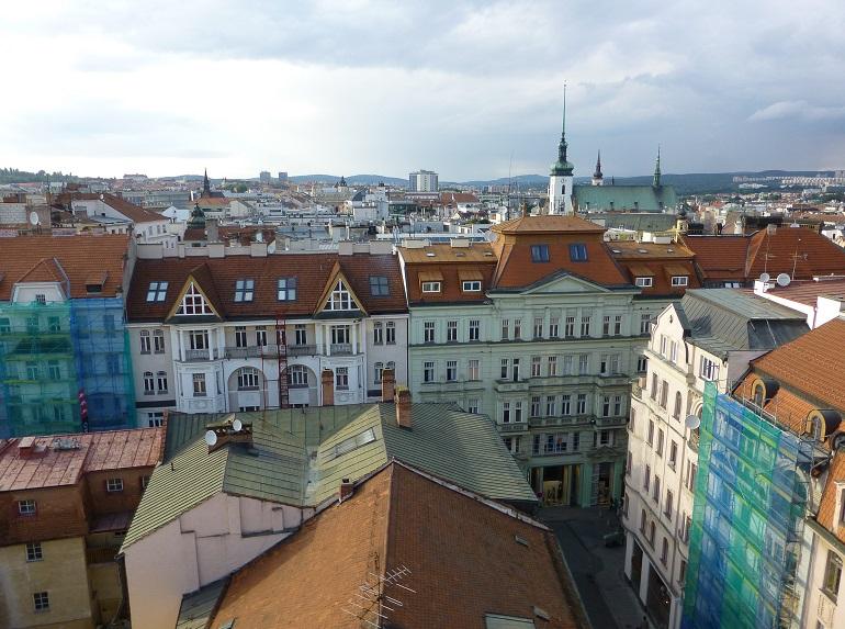 vistas de brno desde la torre del ayuntamiento