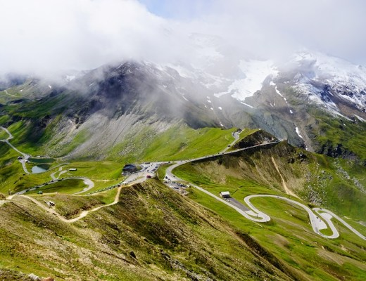 carretera serpenteante de grossglockner