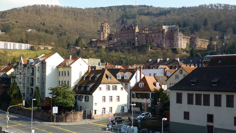 Vista de la fortaleza de Heidelberg