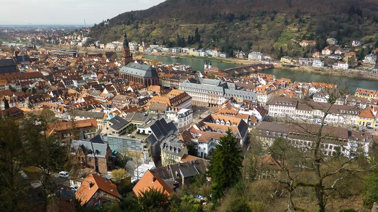 Vistas de Heidelberg desde la fortaleza